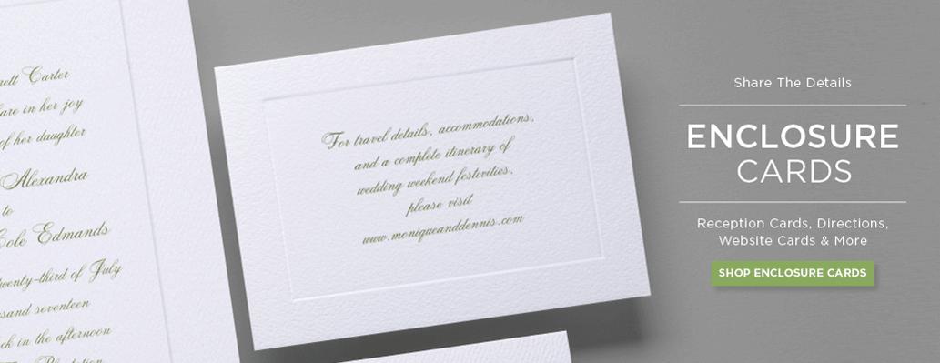 Wedding Invitation Banner Response Card Enclosure Cards